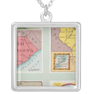 South Carolina, Wisconsin, Maine, Michigan Silver Plated Necklace