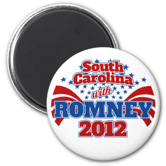 South Carolina with Romney 2012 2 Inch Round Magnet