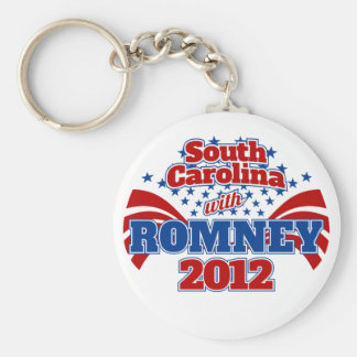 South Carolina with Romney 2012 Basic Round Button Keychain