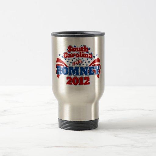 South Carolina with Romney 2012 15 Oz Stainless Steel Travel Mug