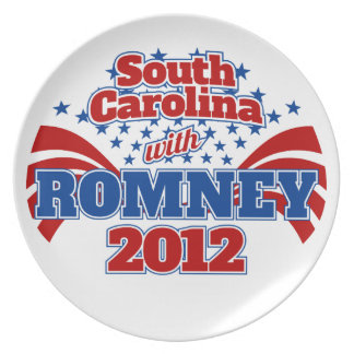 South Carolina with Romney 2012 Plate