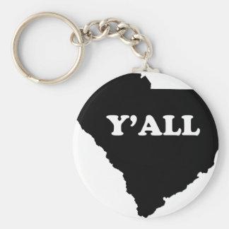 South Carolina Yall Basic Round Button Keychain