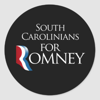 South Carolinians for Romney -.png Classic Round Sticker