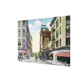 South Centre Street View of Hotel Mohawk Canvas Prints