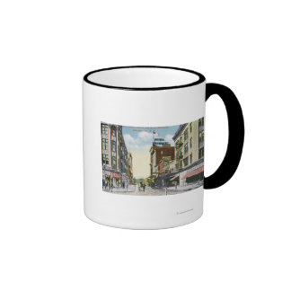 South Centre Street View of Hotel Mohawk Coffee Mugs
