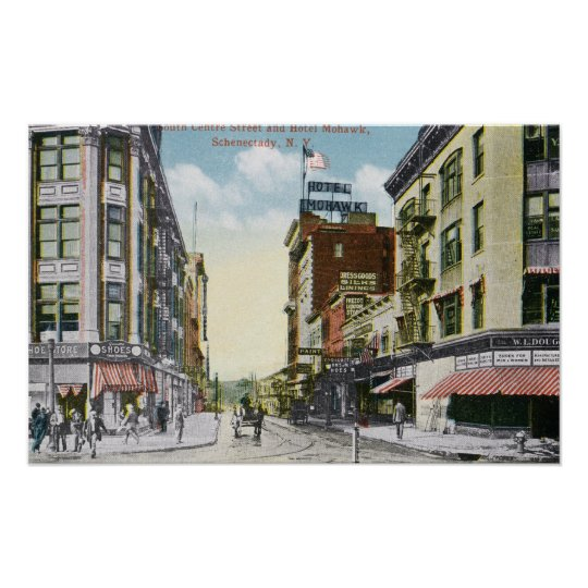 South Centre Street View of Hotel Mohawk Poster