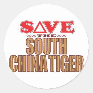 South China Tiger Save Classic Round Sticker