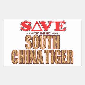 South China Tiger Save Rectangular Sticker