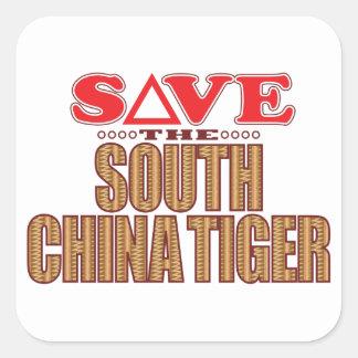 South China Tiger Save Square Sticker