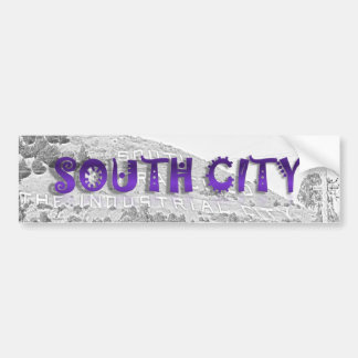 South City - The Mountain Background Sketch Car Bumper Sticker