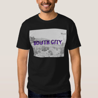 South City - The Mountain Background Sketch T Shirt