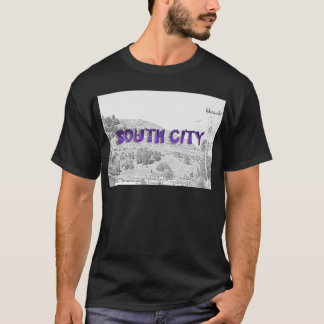 South City - The Mountain Background Sketch T-Shirt
