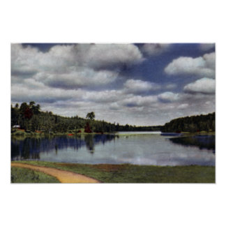 South Clearwater Minnesota Itasca State Park Lake Poster