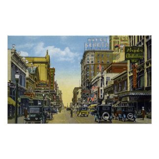 South Clinton Ave. to Main St. 1924 Poster