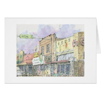 South Congress Ave. at Milton Street, Austin, Texa Stationery Note Card