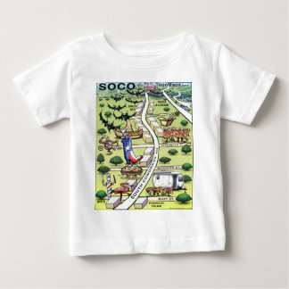 South Congress Ave ATX Cartoon Map Baby T-Shirt
