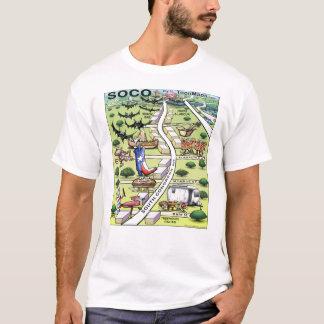 South Congress Ave ATX Cartoon Map T-Shirt