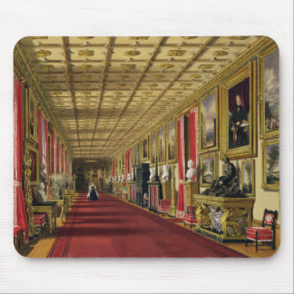South Corridor, Windsor Castle, 1838 (chromolitho) Mouse Pad