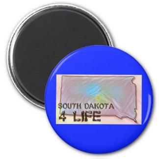 """South Dakota 4 Life"" State Map Pride Design Magnet"