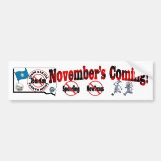 South Dakota Anti ObamaCare – November's Coming! Bumper Sticker