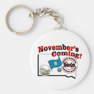 South Dakota Anti ObamaCare – November's Coming! Keychain