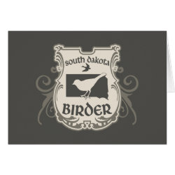 Greeting Card with South Dakota Birder design