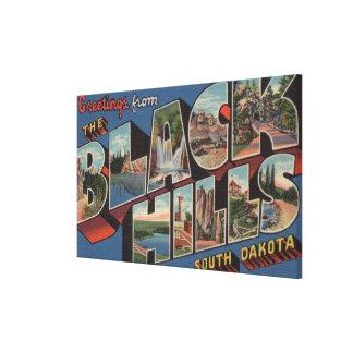 South Dakota - Black Hills - Large Letter Scenes Canvas Print