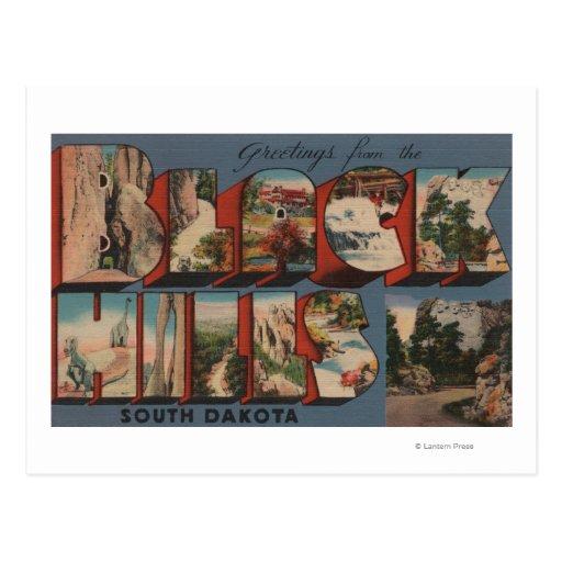 South Dakota - Black Hills - Mt. Rushmore Post Card