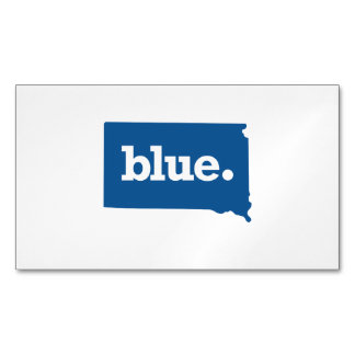 SOUTH DAKOTA BLUE STATE MAGNETIC BUSINESS CARD