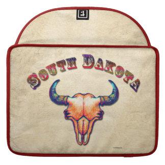 South Dakota Buffalo Skull Light Tan Sleeve For MacBooks