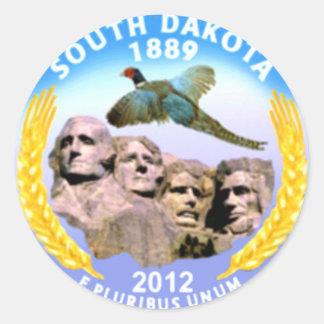 South Dakota Classic Round Sticker