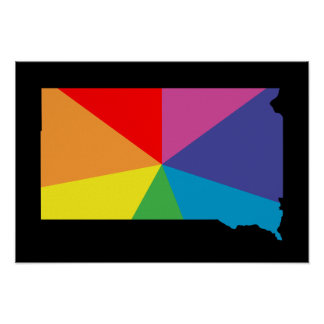 south dakota color burst poster