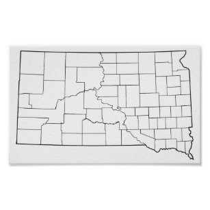 photo about South Dakota County Map Printable known as Map Of The Dakotas Posters Image Prints Zazzle