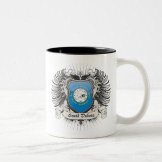 South Dakota Crest Two-Tone Coffee Mug