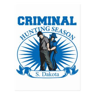 South Dakota Criminal Hunting Season Postcard