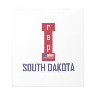 south dakota design note pad