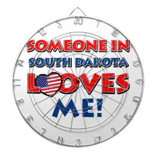 South Dakota Designs Dartboard With Darts