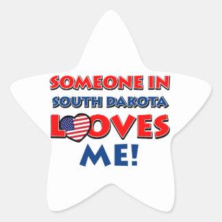 South Dakota Designs Star Sticker
