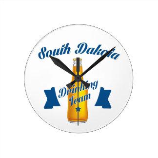 South Dakota Drinking team Round Clock