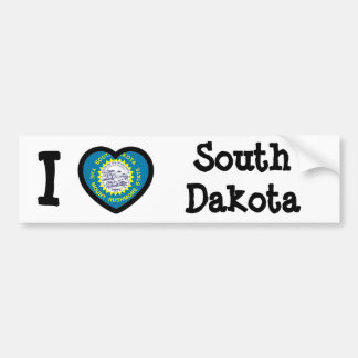 South Dakota Flag Car Bumper Sticker