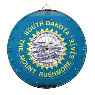 South Dakota Flag Dartboard With Darts