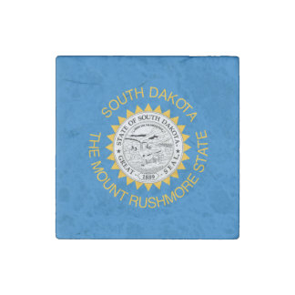 SOUTH DAKOTA Flag Design - Stone Magnet