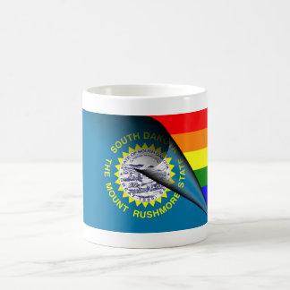 South Dakota Flag Gay Pride Rainbow Classic White Coffee Mug