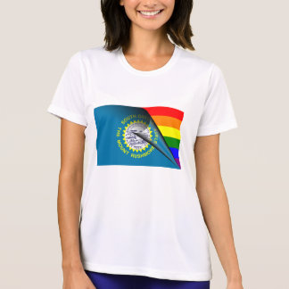 South Dakota Flag Gay Pride Rainbow Shirt