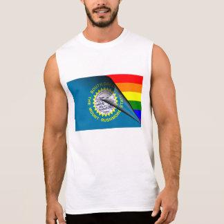 South Dakota Flag Gay Pride Rainbow Sleeveless Tee