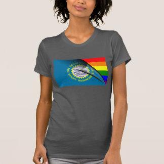South Dakota Flag Gay Pride Rainbow T-Shirt