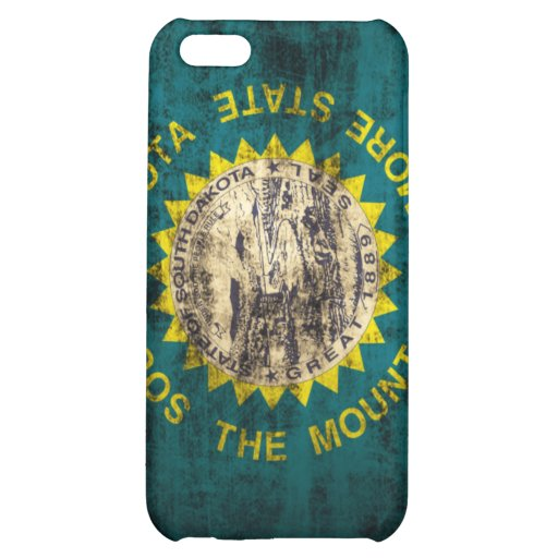 South Dakota Flag Grunge iPhone 5C Cover