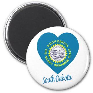South Dakota Flag Heart Magnet