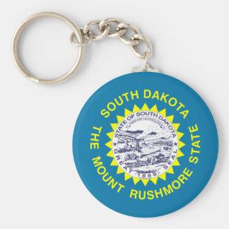 South Dakota Flag Basic Round Button Keychain