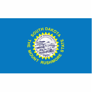 South Dakota Flag Keychain Cut Out